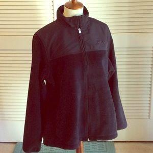 FILA Soft velour fleece & nylon zip jacket
